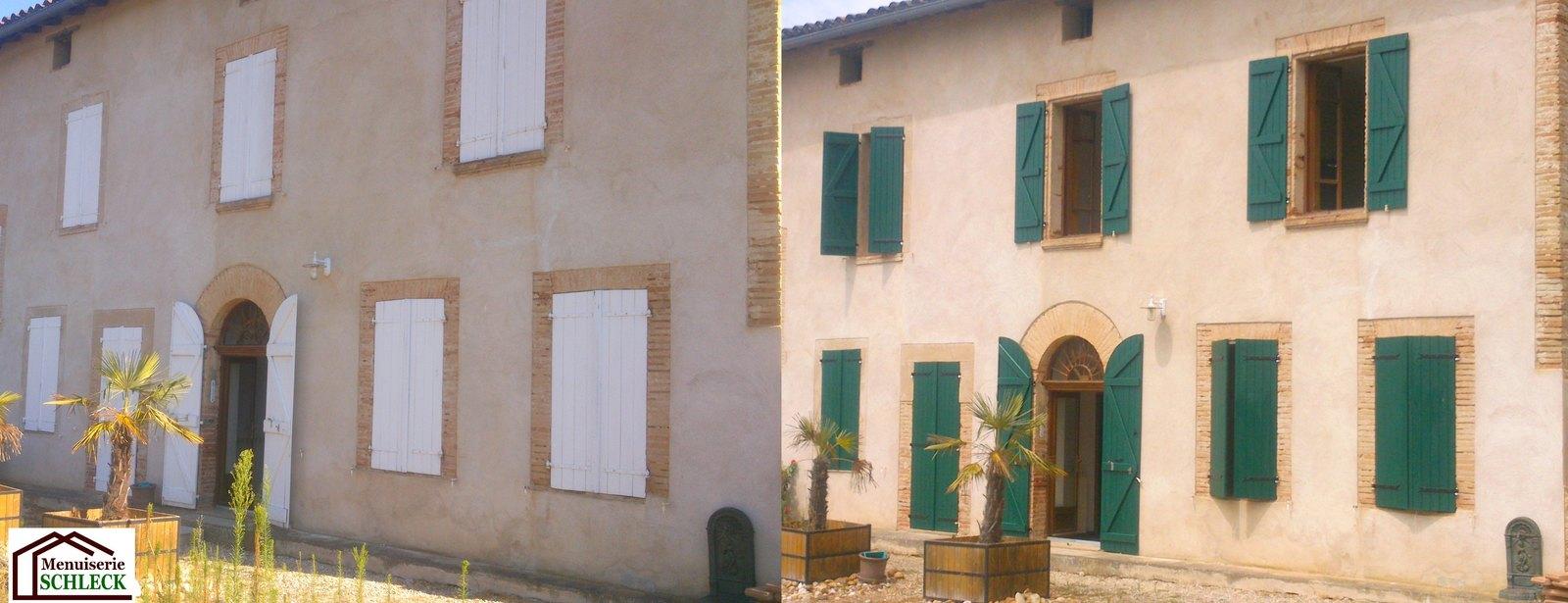 Menuisier RGE Les volets bois (conception, pose, rénovation) # Rénovation Volets Bois