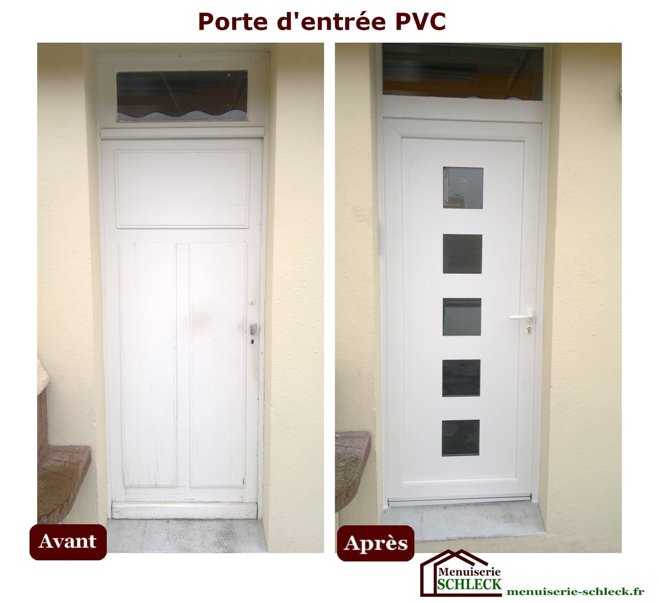 Menuiserie r novation schleck nos r alisations for Prix porte d entree pvc