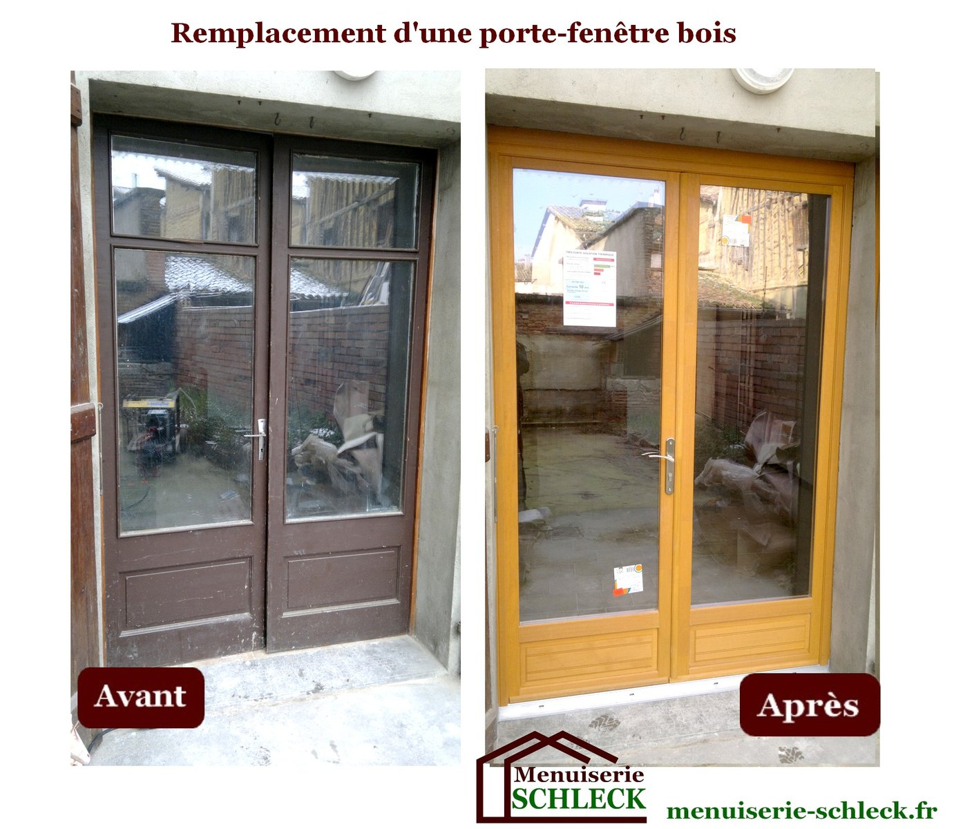 Menuiserie r novation schleck nos r alisations - Renovation porte fenetre bois ...