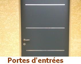 Portes d'entrées bois, PVC, aluminium