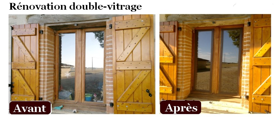 Fenetre de renovation for Fenetre double vitrage en bois
