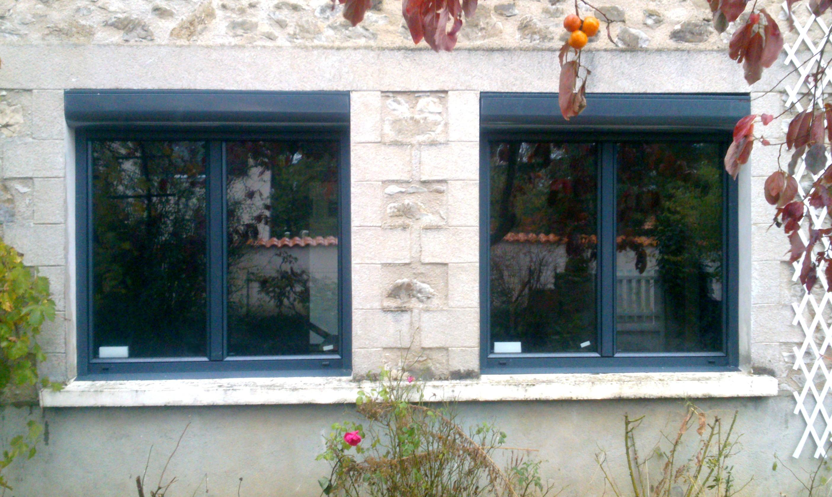 fenêtre aluminium et volets roulants pose en rénovation