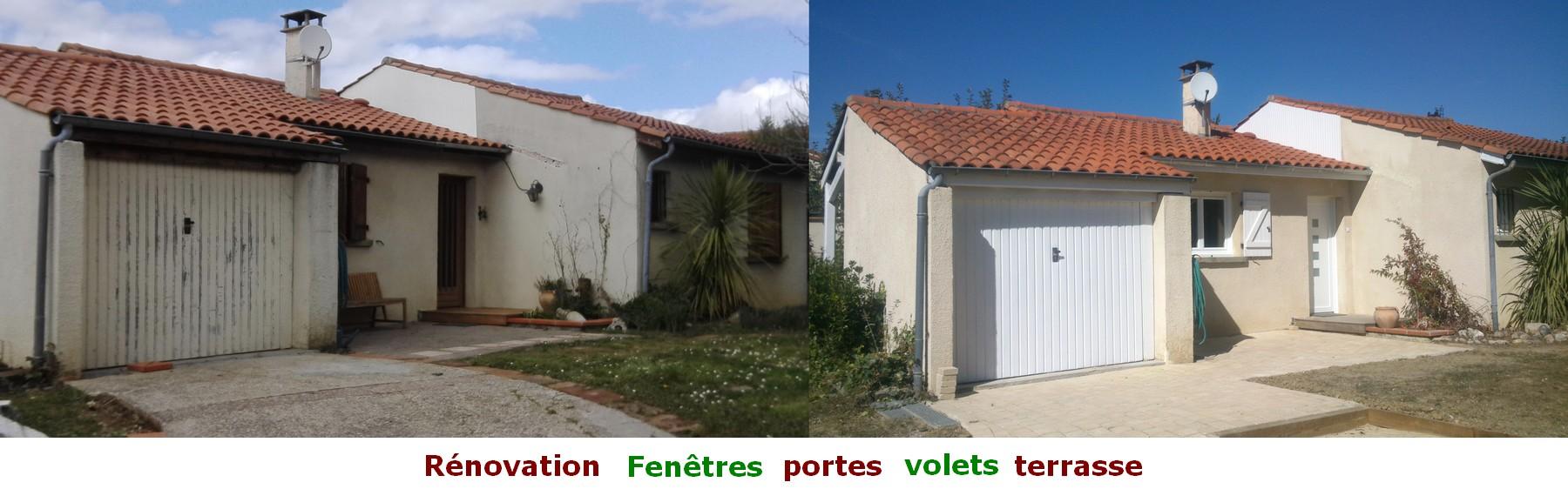 rénovation maison, fenêtres, portes, volets, terrasse