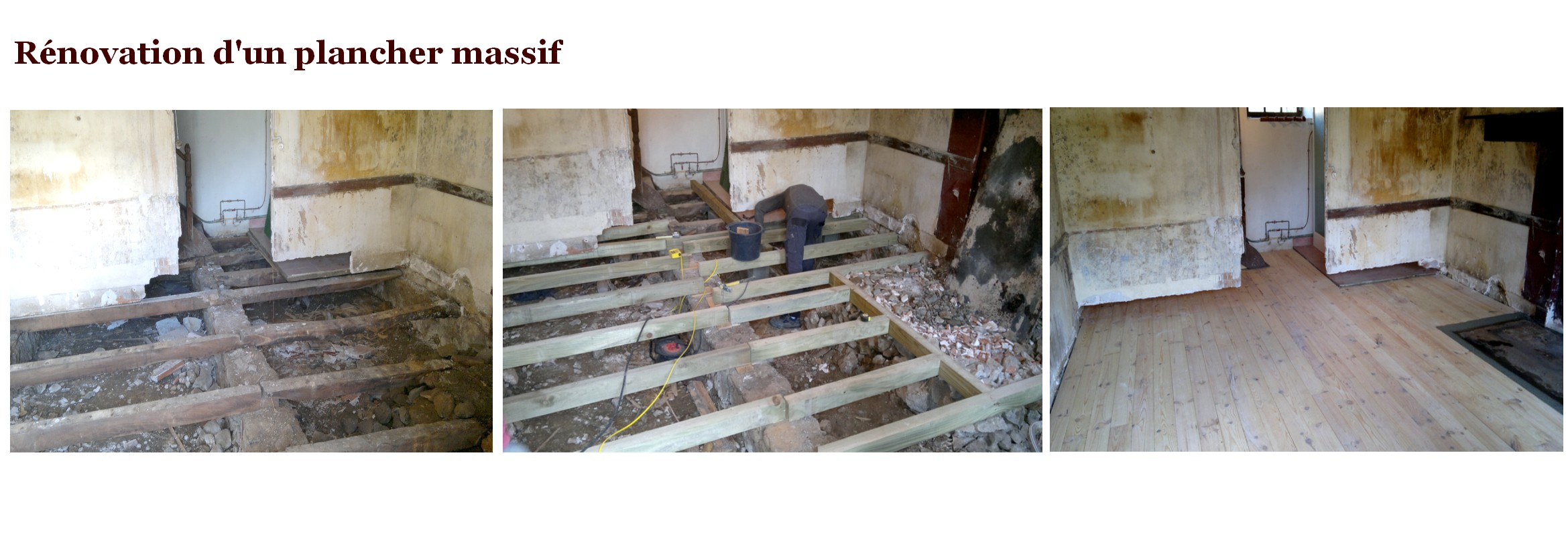 renovation plancher massif