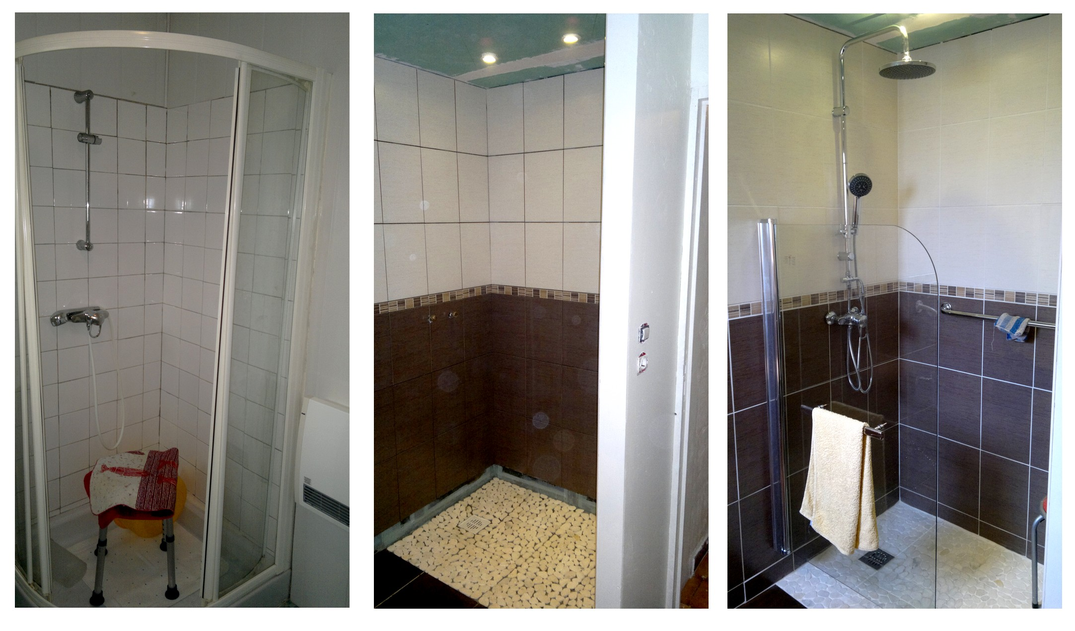 Renovation douche italienne for Prix renovation salle de bain 9m2