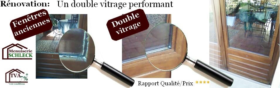 Comp tences et produits de la menuiserie schmeck for Renovation fenetre double vitrage